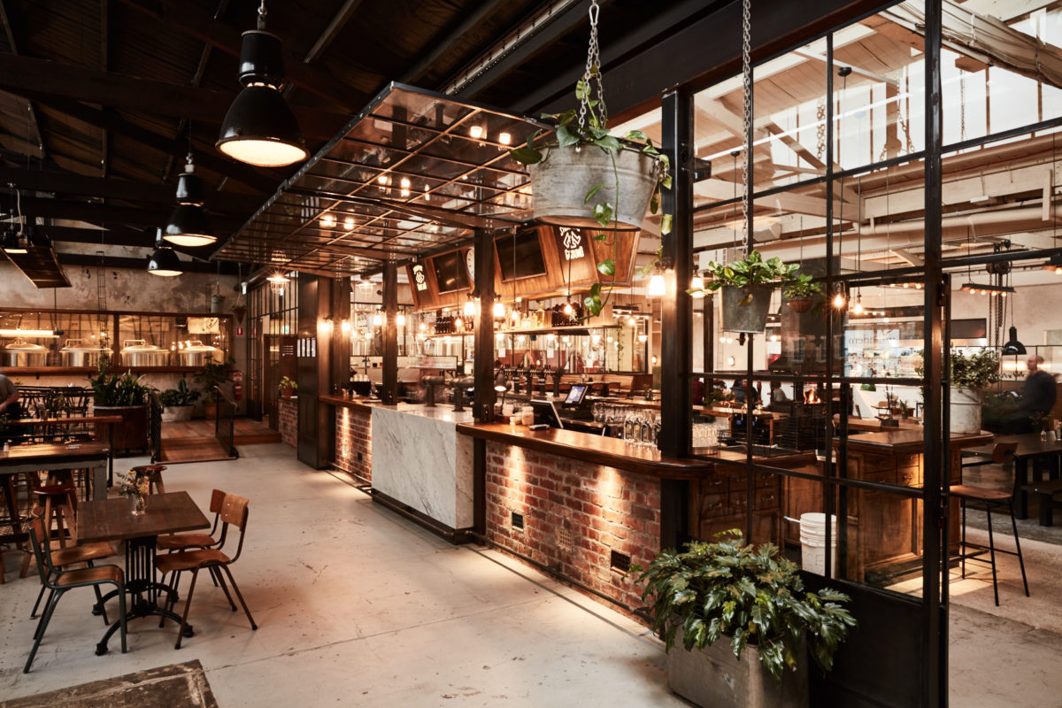 Stomping grounds brewery beer hall placeformspace for Design industry melbourne